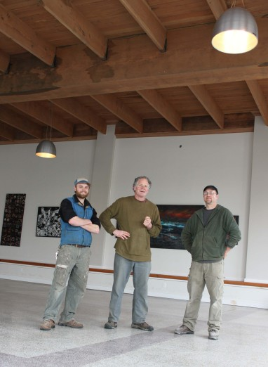 The Restoration Crew: (Left to Right) Nate Killops, Tim Kennedy, Drew Olson